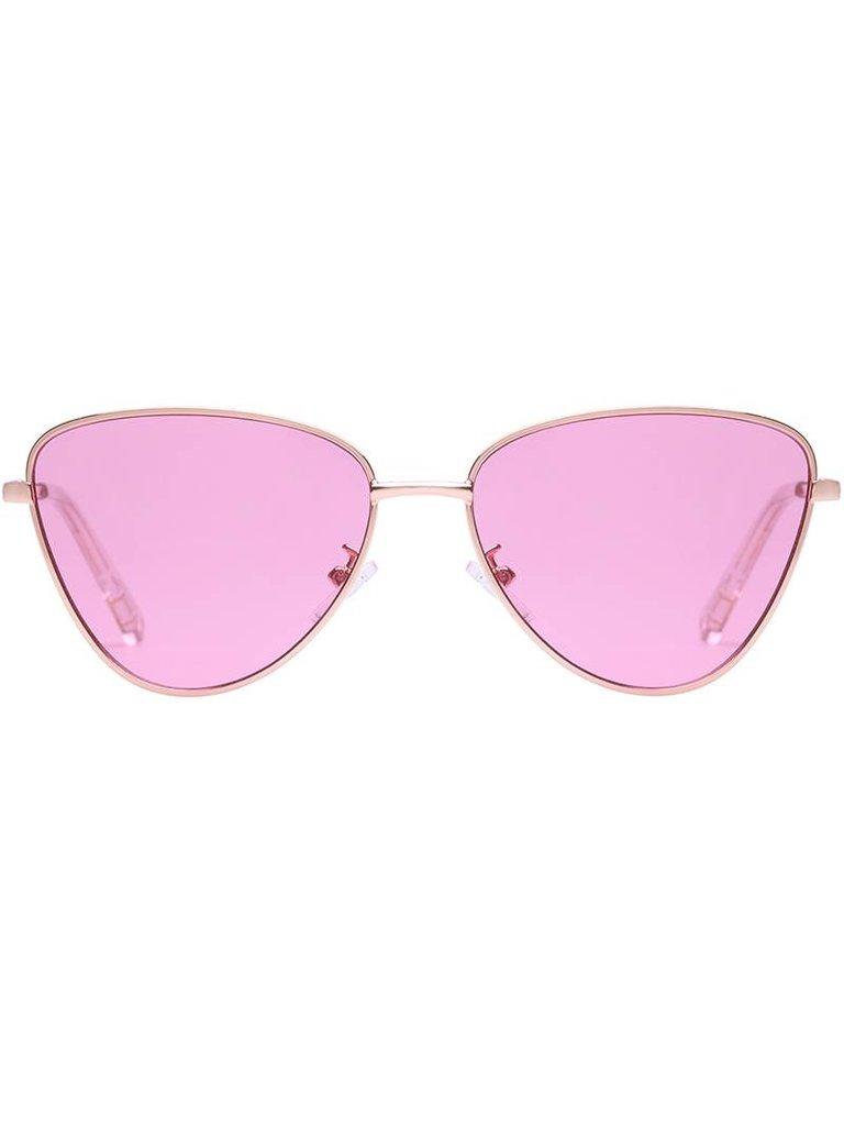 Le Specs Echo zonnebril roze goud