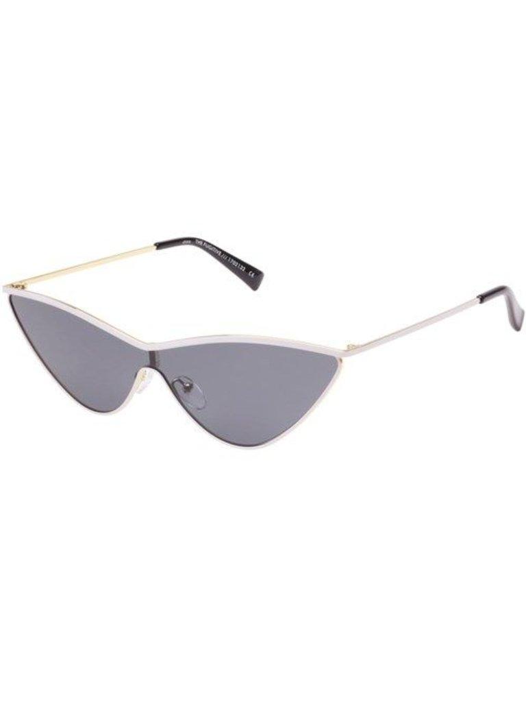 Le Specs x Adam Selman Die Fugitive Sonnenbrille weiß