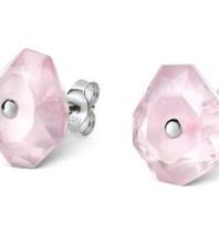 Morganne Bello earrings powder pink Quartz