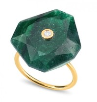 Morganne Bello ring oversized green Quartz