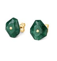 Morganne Bello earrings green Quartz