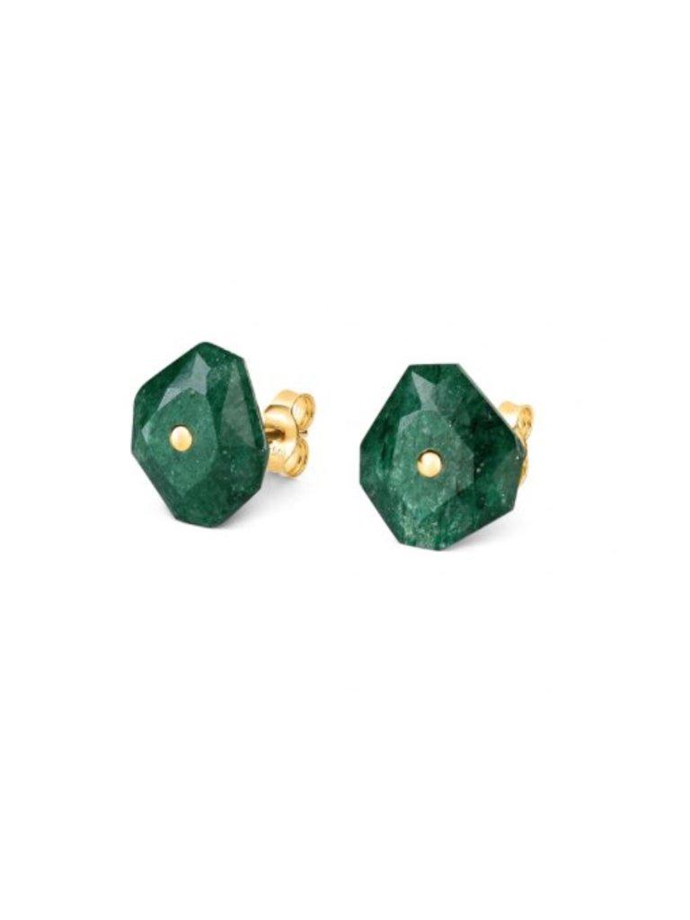 Morganne Bello Ohrringe grün Quarz
