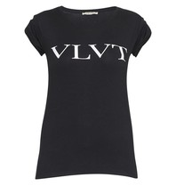 VLVT t-shirt with imprint black and white