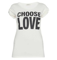 VLVT choose love t-shirt met opdruk wit zwart