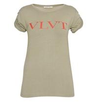 VLVT t-shirt met opdruk groen rood