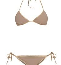 Tooshie Hampton reversible triangle bikini taupe brown
