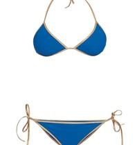 Tooshie Hampton reversible triangle bikini blue