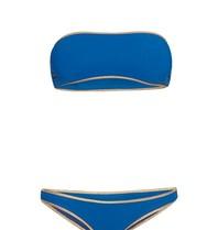Tooshie Hampton reversible bandeau bikini blauw