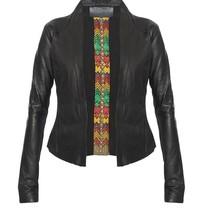 Yirga leren jacket met studs zwart