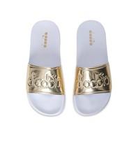 Diadora slipper white gold