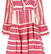 Hingabe Kleid mit Druck rot weiß