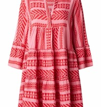 Devotion dress with pink red print