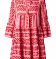 Devotion jurk met print roze rood