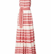 Devotion maxi dress with print red white