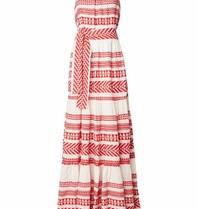 Devotion maxi jurk met print rood wit
