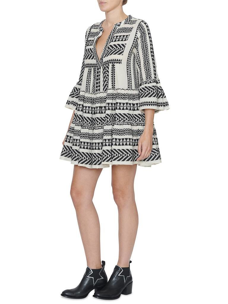 Devotion dress with print black and white