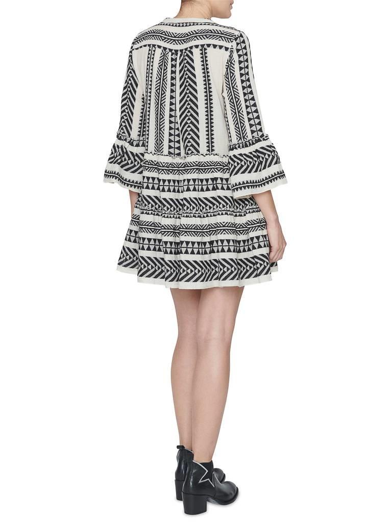 Devotion Kleid mit Print schwarz und weiß