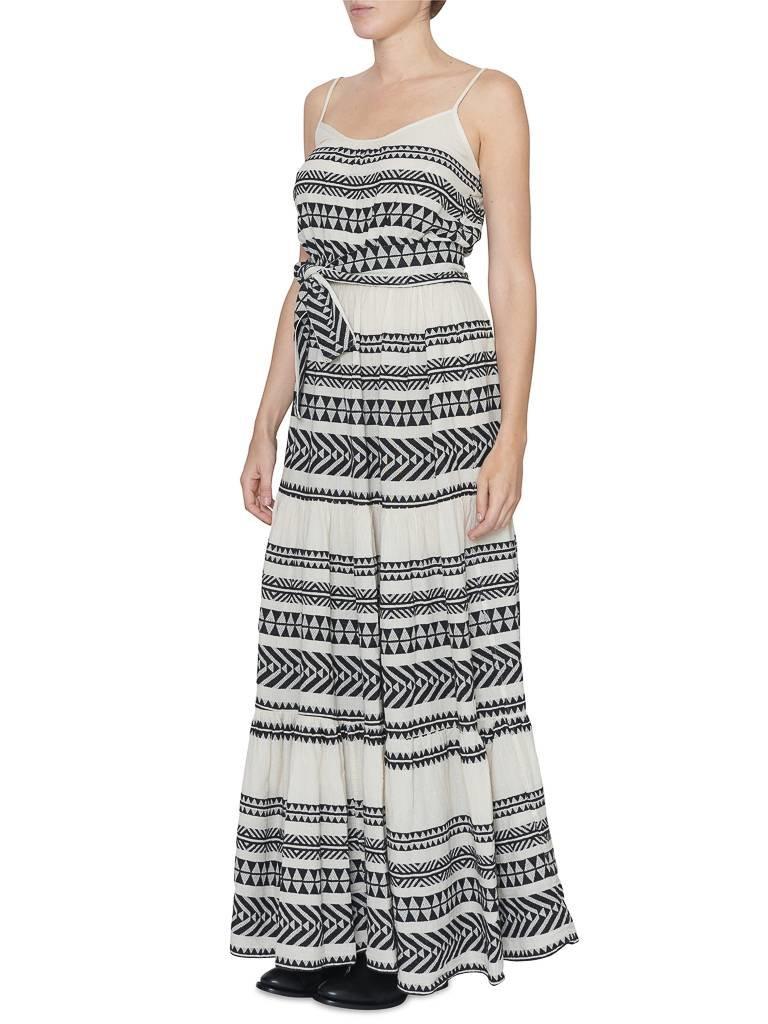 Devotion maxi dress with print black white