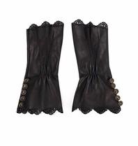 Elisabetta Franchi Handschuhe mit Knöpfen schwarz
