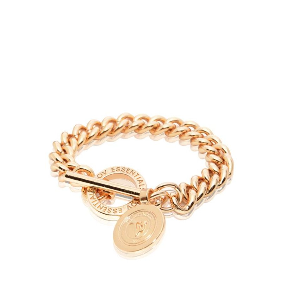 Mini medaillon solochain bracelet - Rose