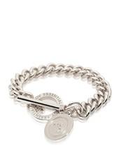 Mini medaillon solochain armband - Wit Goud