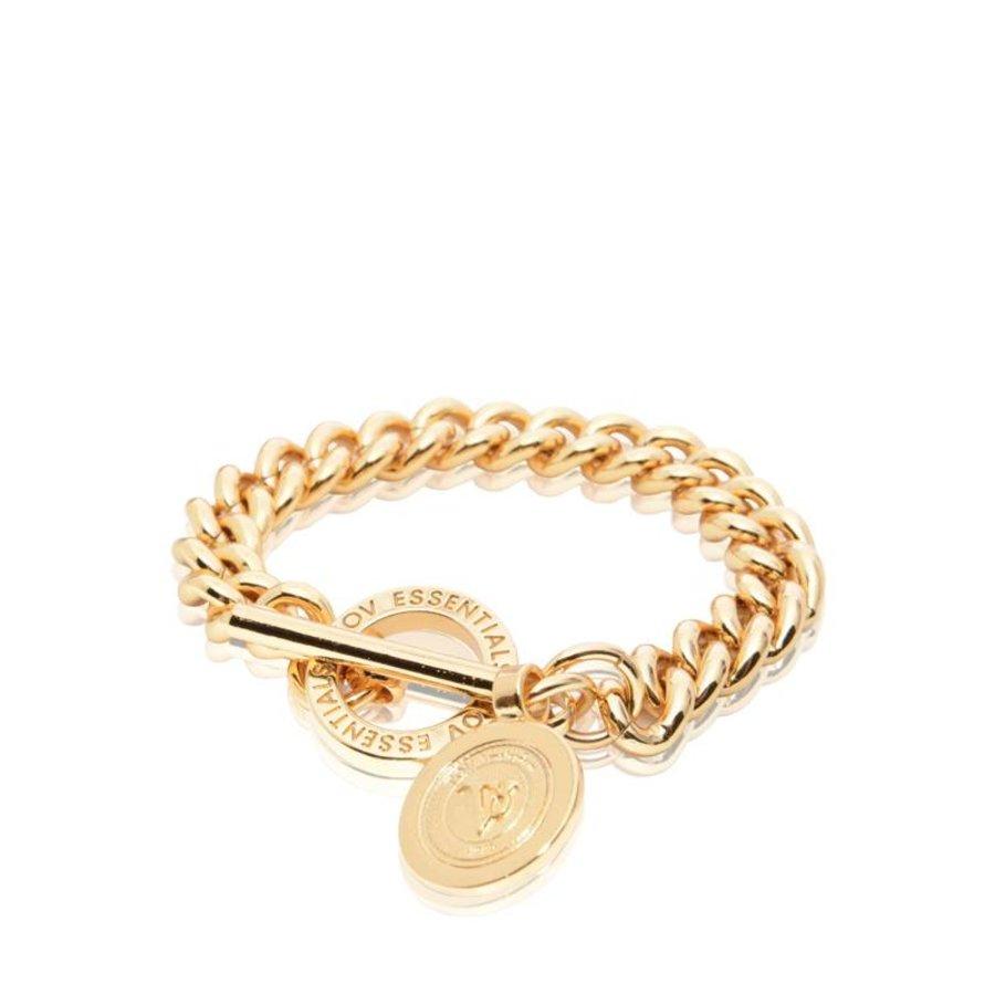 Mini medaillon solochain bracelet - Gold