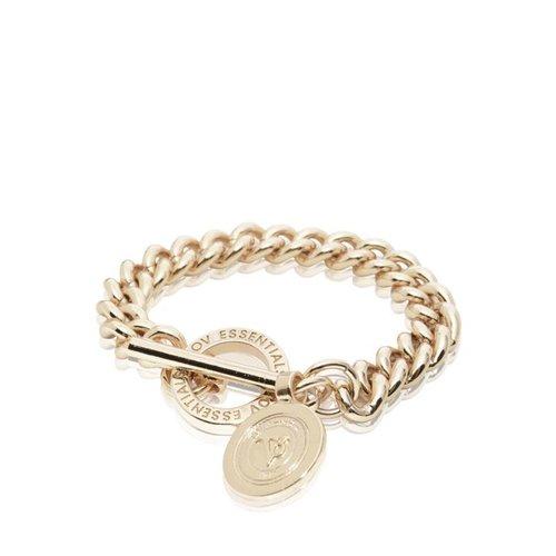 Mini Medaillon Solochain - Armband - Champagne Goud