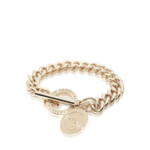 Mini medaillon solochain bracelet - Light gold