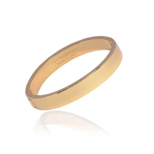 Diamond edge bangle - Goud