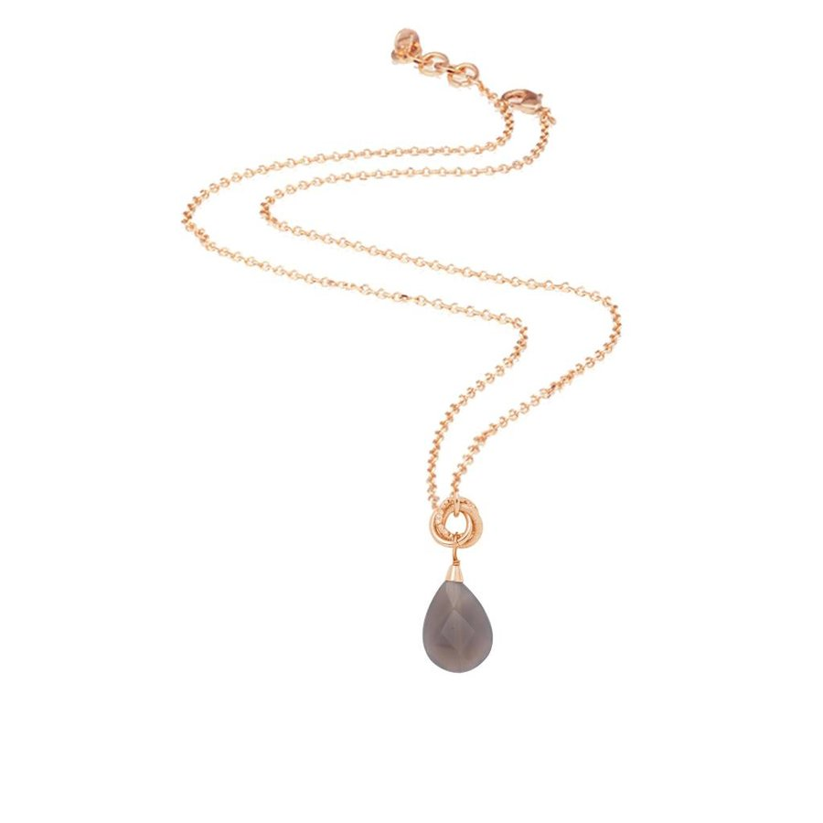 Pure stone necklace - Rose/Grey