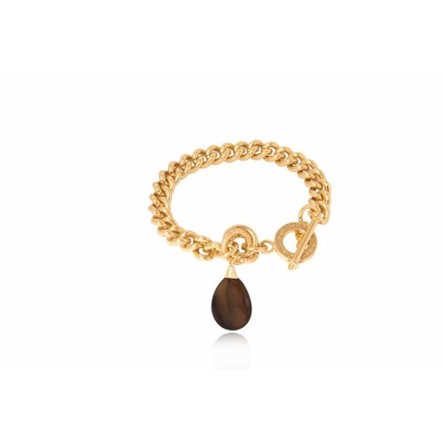Pure stone solochain - Gold/Dark Brown