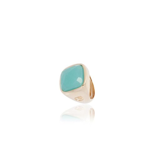 Essential gem ring - Rose / Aqua Green