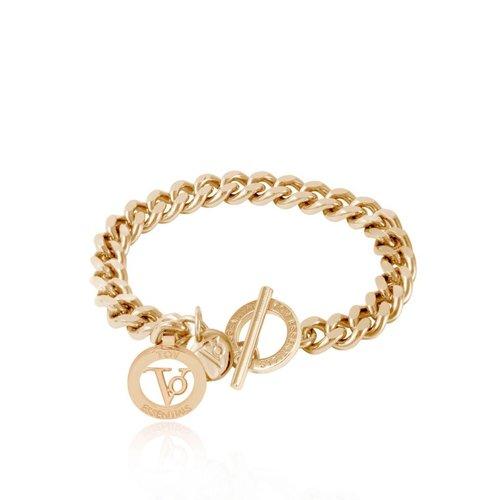 Ini mini flat chain armband - Light goud