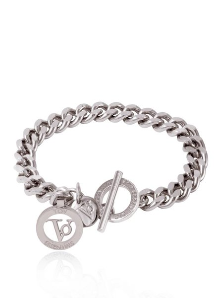 Ini mini flat chain armband - Wit Goud