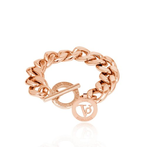 Small flat chain bracelet - Rose