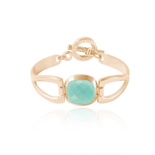 Vintage Gem bracelet - Champagne Gold / Aquamarine