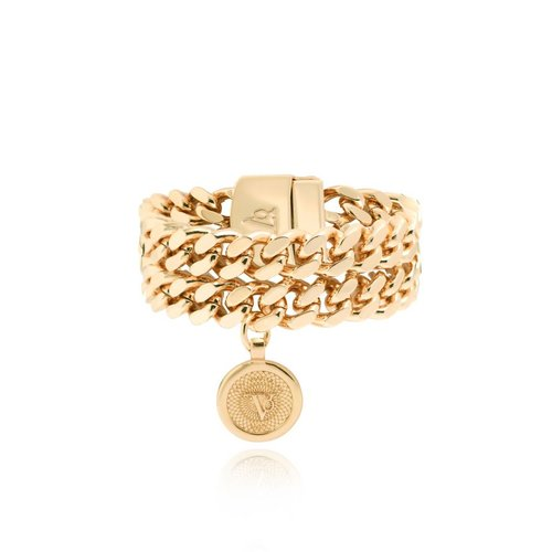 Double chain armband - Goud