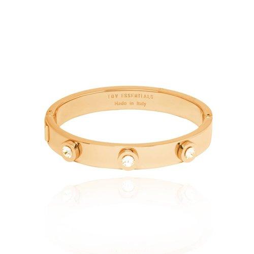 Stone bangle - Goud/Gouden schaduw