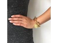 Flat gourmet armband - Goud