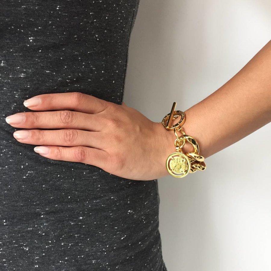Flat gourmet bracelet - Gold