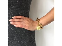 Flat gourmet armband - Wit Goud