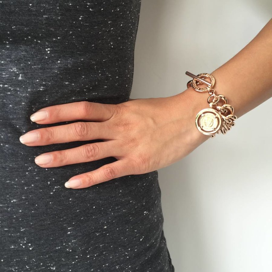Small Solochain - Armband - Wit Goud