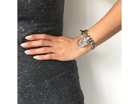 Mini flat chain armband - Wit Goud