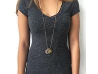 Triple coins tri colori necklace