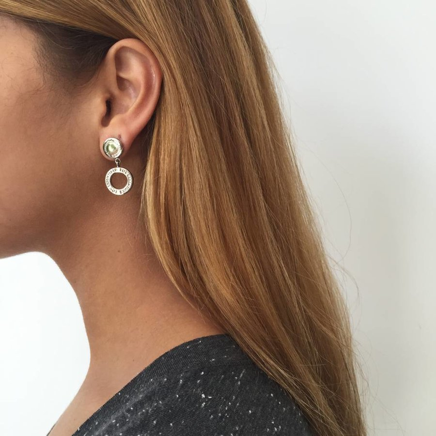 1 position earring - Gold