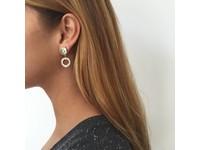 1 position oorbellen - Rose