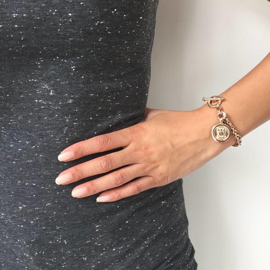 Mini spiga armband - Wit Goud
