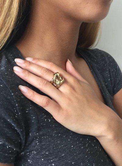 Plain Gourmet ring - Rose