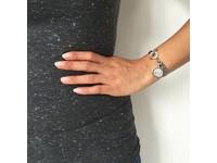 Ini mini mermaid medaillon bracelet - White Gold