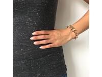Round gourmet bracelet - Gold
